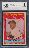 Willie Mays 1959 Topps #563 All-Star (BCCG 9) at PristineAuction.com