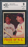 Willie Mays / Stan Musial 1963 Topps #138 Pride of NL (BCCG 9) at PristineAuction.com