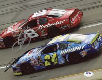 Jeff Gordon & Dale Earnhardt Jr. Signed NASCAR 8x10 Photo (PSA COA) at PristineAuction.com