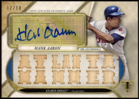 Hank Aaron 2017 Topps Triple Threads Relic Autographs #TTARHA1 at PristineAuction.com