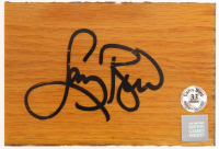 Larry Bird Signed Boston Garden Parquet 4x6 Hardwood Piece (Bird Hologram & Boston Celtics Game-Used COA) at PristineAuction.com