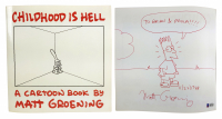 "Matt Groening Signed ""Childhood is Hell"" Softcover Book with Hand-Drawn Sketch (Beckett COA) at PristineAuction.com"