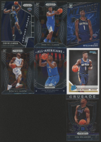 Lot of (7) Zion Williamson Basketball Cards with 2019-20 Panini Prizm Draft Picks Prizms Silver #1, 2019-20 Donruss #201 RC, 2019-20 Panini Prizm Instant Impact #2, 2019-20 Donruss Optic My House #15 at PristineAuction.com
