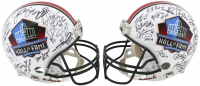 Pro Football Hall of Fame Full-Size Authentic On-Field Helmet Signed by (38) with Joe Montana, Jerry Rice, Warren Moon, Howie Long, Barry Sanders (JSA COA & Beckett COA) at PristineAuction.com