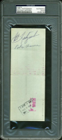 Carl Yastrzemski Signed 1976 Red Sox Check (PSA Encpasulated) at PristineAuction.com