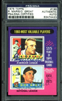 Roger Maris & Dick Groat Signed 1975 Topps #198 (PSA Encapsulated) at PristineAuction.com