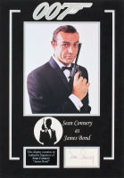 "Sean Connery Signed ""007"" 14x20 Custom Matted Cut Display (JSA LOA) at PristineAuction.com"