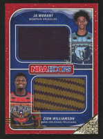 2019-20 Hoops Rookie Sweaters Dual #2 Ja Morant / Zion Williamson at PristineAuction.com