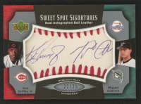 2005 Sweet Spot Signatures Dual Red Stitch #GC Ken Griffey Jr. / Miguel Cabrera at PristineAuction.com