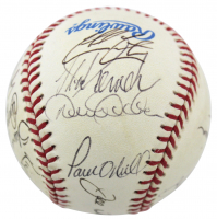 1998 Yankees OAL Baseball Team-Signed by (20) with Joe Torre, Derek Jeter, Mariano Rivera (JSA LOA) at PristineAuction.com