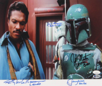 """The Empire Strikes Back"" 12x14 Photo Signed by (4) with Billy Dee Williams, Jeremy Bulloch, John Morton & Jason Wingreen with (4) Character Inscriptions (Beckett LOA & JSA COA) at PristineAuction.com"