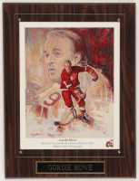 Gordie Howe Signed Red Wings 12x16 Custom Framed Lithograph Display (JSA ALOA) at PristineAuction.com