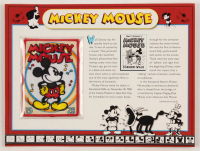 "Disney ""Mickey Mouse"" 9x12 Patch Card at PristineAuction.com"