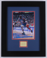 Michael Jordan Signed All-Star Game 15.5x19.5 Custom Framed Cut Display (JSA LOA) at PristineAuction.com