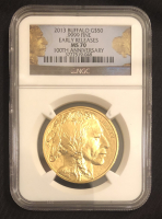2013 $50 Buffalo Gold Coin - Early Releases 100th Anniversary (NGC MS 70) at PristineAuction.com