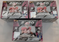 Lot of (3) 2020 Panini Prizm Collegiate Draft Picks Football Boxes of (30) Cards at PristineAuction.com