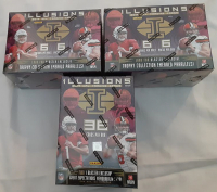 Lot of (3) 2019 Panini Illusions Football Box of (36) Cards at PristineAuction.com