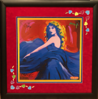 "Taylor Swift & Peter Max Signed ""Speak Now"" 32x32 Custom Framed Poster (JSA LOA) at PristineAuction.com"