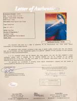 "Taylor Swift & Peter Max Signed ""Speak Now"" 32x32 Custom Framed Poster (JSA LOA) at PristineAuction.com"