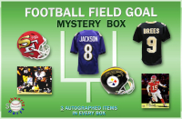 Schwartz Sports Football Field Goal Mystery Box - Series 3 (Limited to 75) (3 Autographed Items per Box) at PristineAuction.com