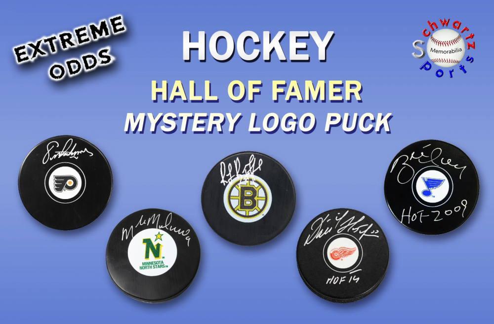 Schwartz Sports EXTREME ODDS – Hockey Hall of Famer Signed Hockey Puck Mystery Box –Series 2 (Limited to 25) at PristineAuction.com