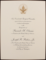 2009 Barrack Obama Presidential Inauguration Invitation at PristineAuction.com