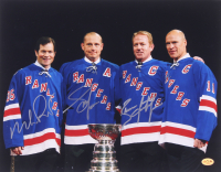 Brian Leetch, Mike Richter, & Adam Graves Signed Rangers 11x14 Photo (JAG Hologram) at PristineAuction.com