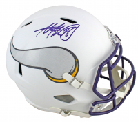 Adrian Peterson Signed Vikings Full-Size Matte White Speed Helmet (Beckett COA) at PristineAuction.com