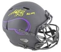 "Adrian Peterson Signed Vikings Full-Size Eclipse Alternate Speed Helmet Inscribed ""All Day"" (Beckett COA) at PristineAuction.com"