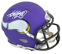 Adrian Peterson Signed Vikings Matte Purple Speed Mini Helmet (Beckett COA) at PristineAuction.com