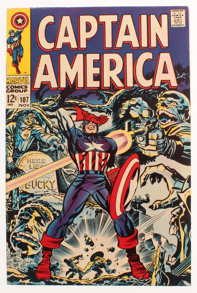 "1968 ""Captain America"" Issue #107 Marvel Comic Book at PristineAuction.com"