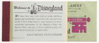 Vintage Disneyland Ticket Booklet at PristineAuction.com
