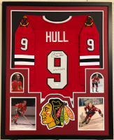 "Bobby Hull Signed 34x42 Custom Framed Jersey Inscribed ""HOF 1983"" (JSA COA) at PristineAuction.com"