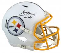 """Joe Greene Signed Steelers Matte White Speed Full-Size Helmet Inscribed """"HOF 87"""" (Beckett COA) at PristineAuction.com"""