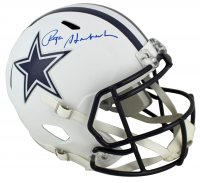 Roger Staubach Signed Cowboys Matte White Speed Full-Size Helmet (Beckett COA) at PristineAuction.com