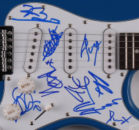 """UB40 39"""" Electric Guitar Band-Signed by (9) with Duncan Campbell, Robin Campbell, Earl Falconer, Tony Mullings (JSA COA) at PristineAuction.com"""