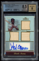 Hank Aaron 2011 Topps Tribute Autograph Triple Relics #HA (BGS 8.5) at PristineAuction.com