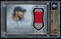 Clayton Kershaw 2017 Topps Dynasty Autograph Patches #APCE2 (BGS 9.5) at PristineAuction.com