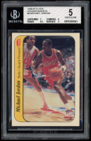 Michael Jordan 1986-87 Fleer Stickers #8 (BGS 5) at PristineAuction.com