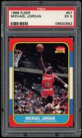 Michael Jordan 1986-87 Fleer #57 RC (PSA 5) at PristineAuction.com