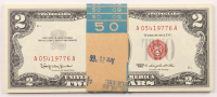 Lot of (25) 1963 $2 Two-Dollar Red Seal U.S. Legal Tender Notes with Consecutive Serial Numbers at PristineAuction.com