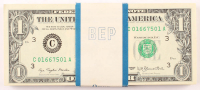 Lot of (100) 1977 $1 U.S. Federal Reserve Notes with Consecutive Serial Numbers at PristineAuction.com