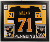 Evgeni Malkin Signed 35x43 Custom Framed Jersey (Beckett COA) at PristineAuction.com