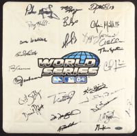 2004 Boston Red Sox '04 World Series Logo Base Team-Signed by (25) with David Ortiz, Manny Ramirez, Johnny Damon, Curt Schilling (Steiner LOA) at PristineAuction.com