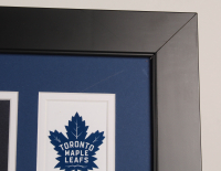 1962 Stanley Cup Champions 35x43 Custom Framed Jersey Team-Signed by (4) With Johnny Bower, Red Kelly, Bobby Baun & Larry Hillman (Beckett LOA) at PristineAuction.com