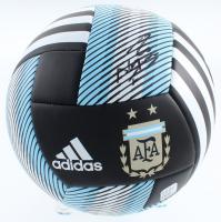 Sergio Aguero Twice-Signed Argentina Logo Adidas Soccer Ball (Beckett COA) at PristineAuction.com