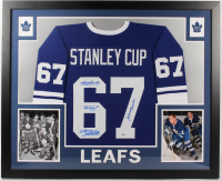 1962 Stanley Cup Champions Team-Signed 35x43 Custom Framed Jersey With Johnny Bower, Red Kelly, Bobby Baun & Larry Hillman (Beckett Hologram) at PristineAuction.com