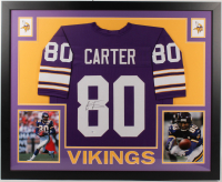 Cris Carter Signed 35x43 Custom Framed Jersey (Beckett COA) at PristineAuction.com