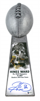 """Hines Ward Signed Steelers 15"""" Lombardi Football Championship Trophy (Beckett COA) at PristineAuction.com"""