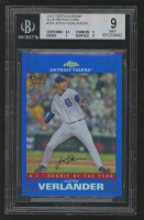 Justin Verlander 2007 Topps Chrome Blue Refractors #254 (BGS 9) at PristineAuction.com